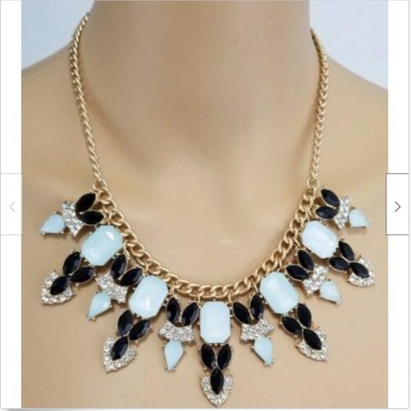 Talbots Jewelry - Talbots Womens Statement Necklace Blue Black
